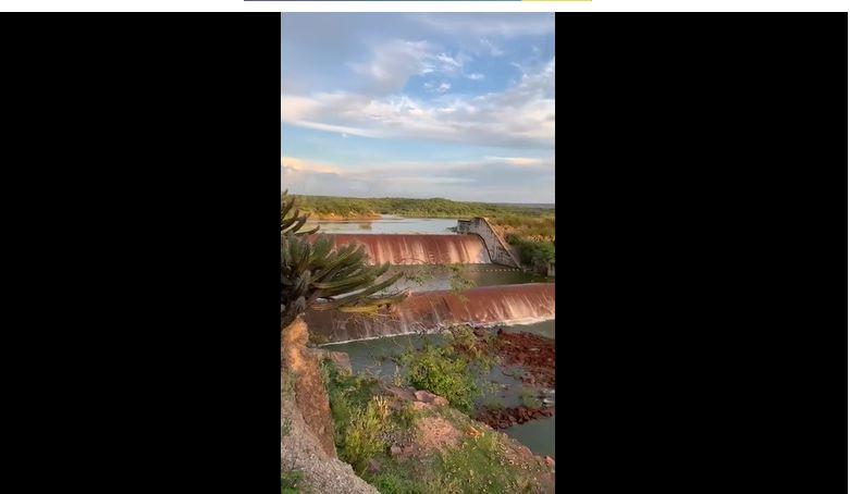 Dois açudes atingem limite máximo no Piauí e transbordam; Veja o vídeo