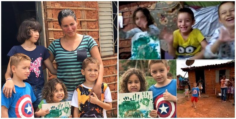 Resultado de imagem para Menino faz vídeo para vender 'obra de arte' da irmã de 4 anos construir casa para a família