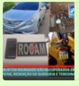 Objetos roubados são recuperação pela Polícia em Redenção do Gurguéia, Picos e Teresina