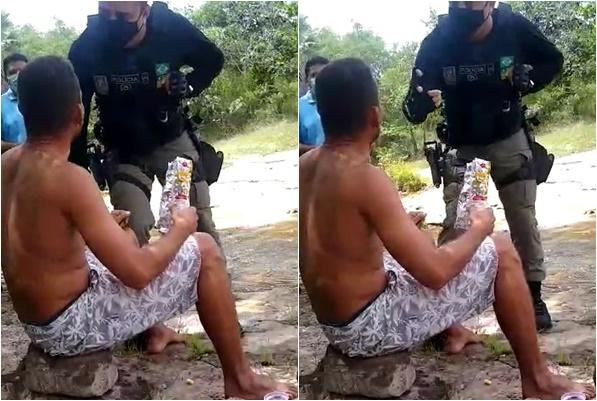 Bolsonaro compartilha vídeo de piauiense em abordagem de medida restritiva