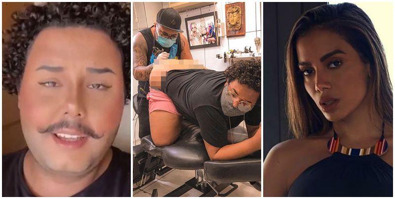 Fã de Anitta faz tatuagem em parte íntima: