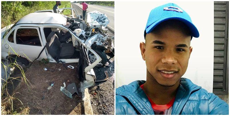 Colisão entre carreta e carro deixa jovem morto, na BR 316 no Piauí