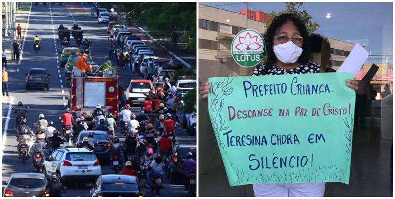 Corpo de Firmino Filho sai em cortejo pelas ruas de Teresina; Veja os vídeos